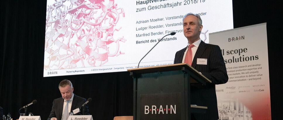 Adriaan Moelker Manfred Bender BRAIN AG Hauptversammlung GJ 2018/2019