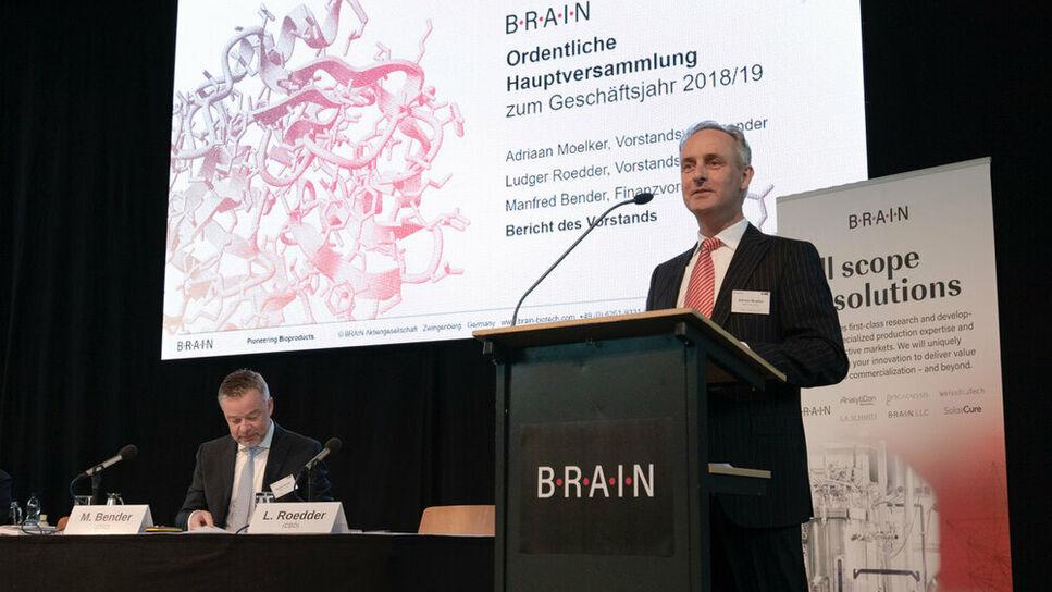 Adriaan Moelker Manfred Bender BRAIN AG Annual General Meeting FY 2018/2019
