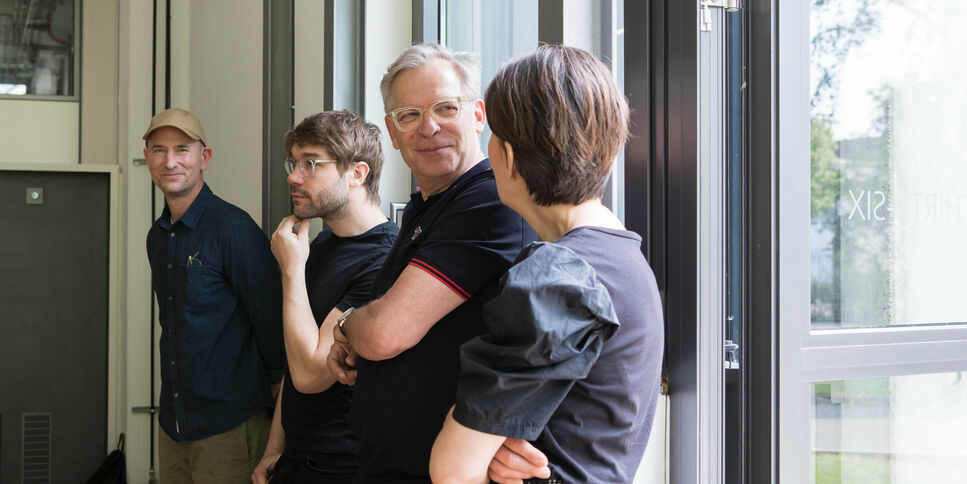 Artists Ingmar Kurth, Malte Sänger, Rainer Raczinski and Jana Hartmann at Kunst Privat 2019