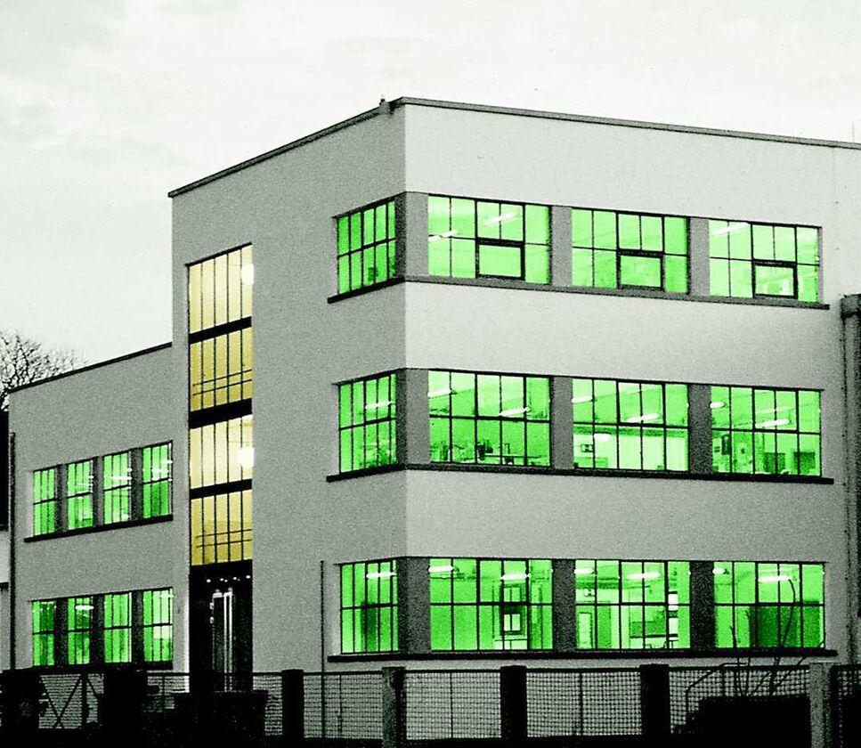 BRAIN AG: Denkmalgeschütztes Bauhaus-Gebäude in Zwingenberg