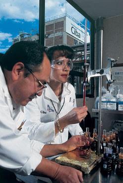Ciba Spezialitätenchemie: Forschungslabor