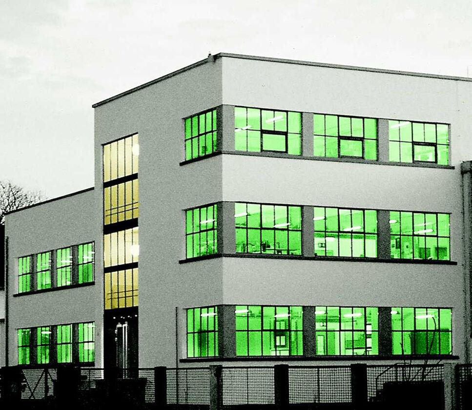 Das Hauptgebäude des Biotechnolo-gie-Unternehmens BRAIN AG in Zwingenberg, Bergstraße