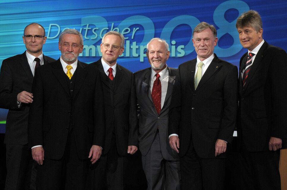 Gruppenbild der Preisträger des Deutschen Umweltpreises 2008