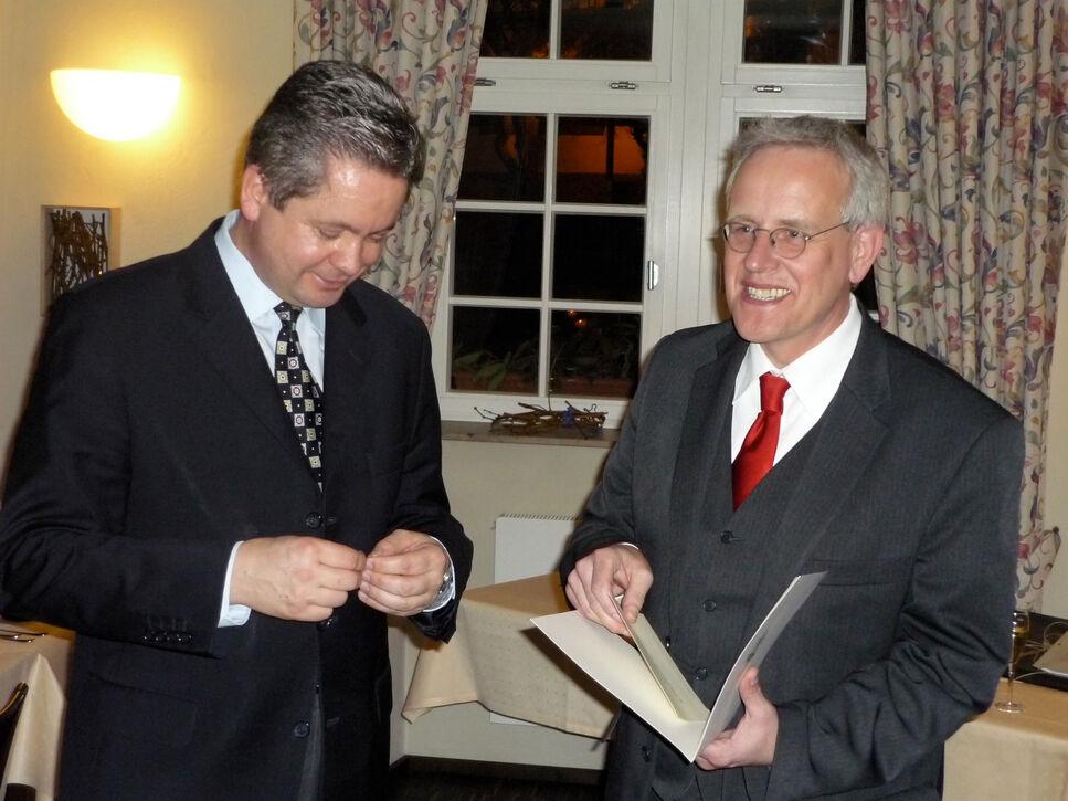 Landrat Matthias Wilkes und Holger Zinke