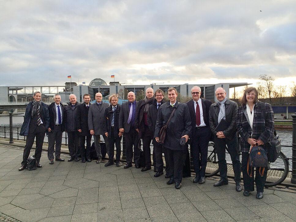 der Teilnehmer der Zwischenevaluierung strategischen Allianz NatLifE 2020 am 18.11.2015 in Berlin