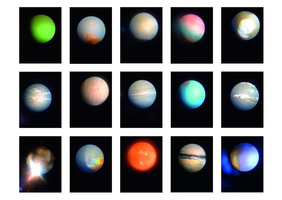 """Daniel T. Braun """"IPlanets"""", seit 2014, Lambdaprint, je 30 x 24 cm"""