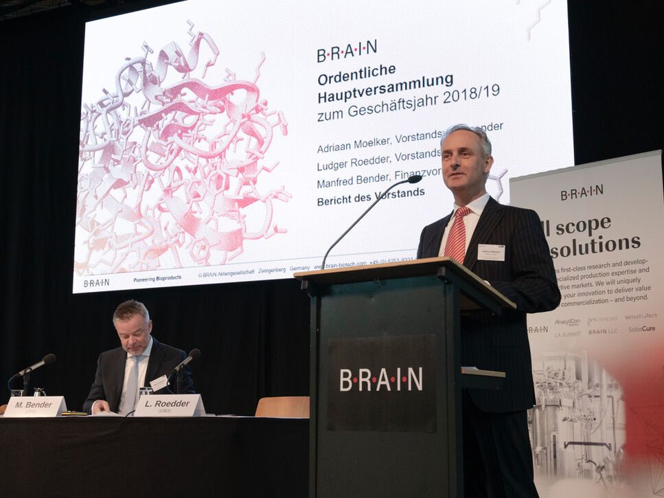 Adriaan Moelker and Manfred Bender at BRAIN AGM 2018-19